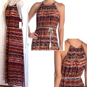 Karen Kane Dresses - 🔥Karen Kane Halter Dress Maxi w Desert Colors 🤩